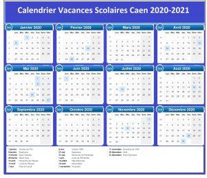 Vacances Scolaires 2019 et 2020 Caen