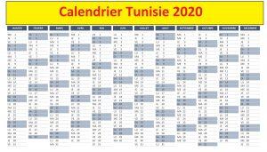 Calendrier Championnat Tunisie 2020