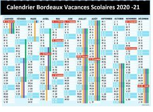 Calendrier Vacances Scolaires 2020 Bordeaux