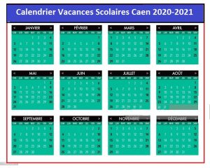 Calendrier Vacances Scolaires 2020 Zone Caen