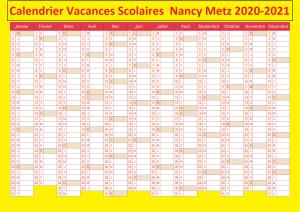 Vacances Scolaires 2019 et 2020 Nancy Metz