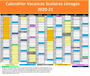 Calendrier Vacances Scolaires 2020 Academie Limoges