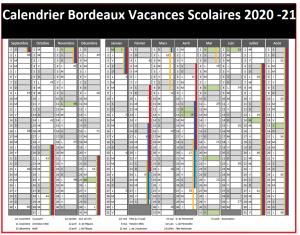 Vacances Scolaires 2019 et 2020 Bordeaux
