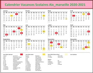 Dates Calendrier Vacances Scolaires Aix Marseille 2020