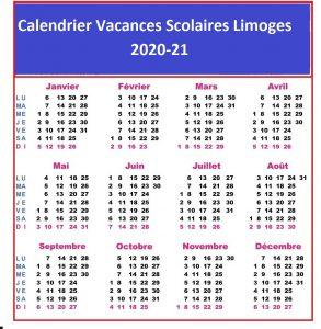 Dates Calendrier Vacances Scolaires 2020 Limoges