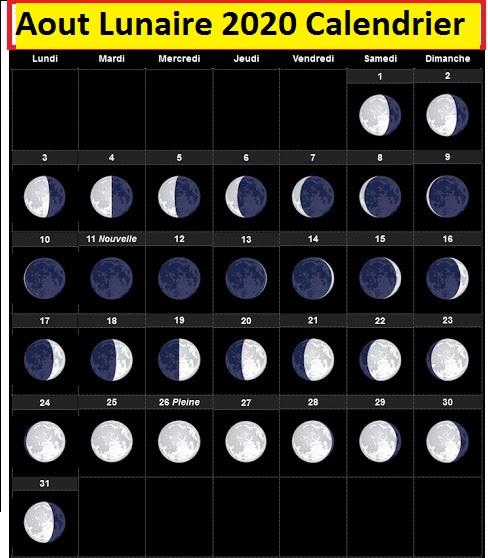 Calendrier lunaire Août 2020 Grains Et Plantes