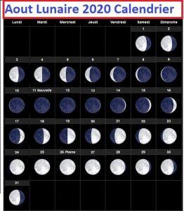 Calendrier lunaire Août 2020 Cheveux