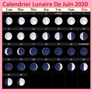 Calendrier lunaire Juin 2020 Cheveux