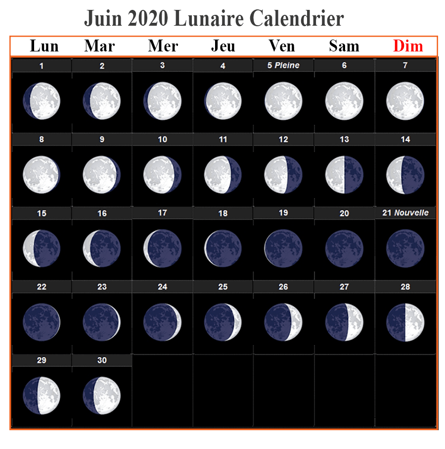 Calendrier lunaire Juin 020 Grains Et Plantes
