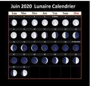 Calendrier lunaire Juin 2020 Potager
