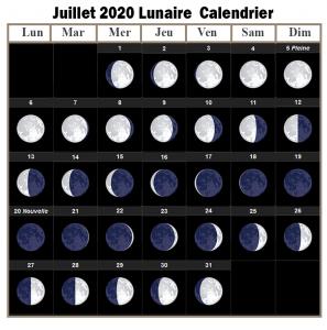 Calendrier lunaire Julliet 2020 Potager