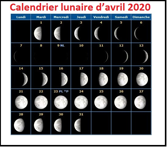Calendrier Rustica Avril 2022 Imprimable Calendrier Lunaire Avril 2020 Rustica PDF   Calendrier 2020