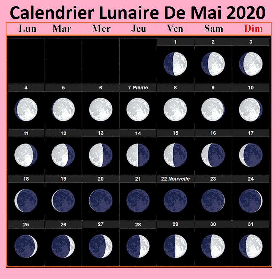 Phases De La Lune Dates Mai