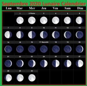 Calendrier lunaire septembre 2020 Jardinage