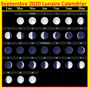 Calendrier lunaire septembre 2020 Cheveux
