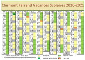 Vacances Scolaires 2020 Zone Clermont Ferrand