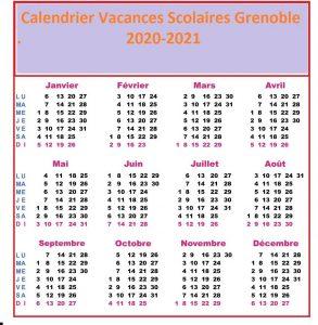 Calendrier Vacances Scolaires 2020 Academie Grenoble