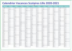 Dates Calendrier Vacances Scolaires Lille 2020