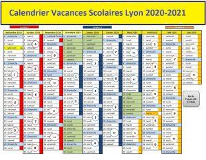 Calendrier Vacances Scolaires 2020 Zone Lyon