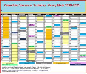 Vacances Scolaires France 2020 Nancy Metz