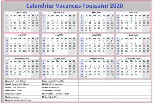 Vacances Toussaint 2020 Zone C