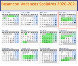 Besancon Vacances Scolaires Zone B