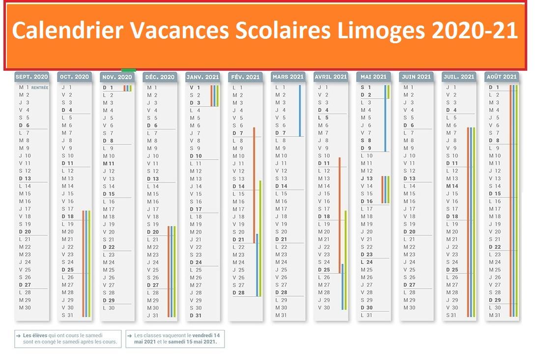 Calendrier Vacances Scolaires 2020 Zone Limoges