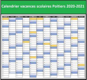 Calendrier Vacances Scolaires 2020 Academie De Poitiers
