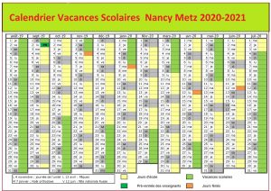 Vacances Scolaires Nancy Metz 2021