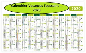 Vacances Scolaire Toussaint 2020 et 2021