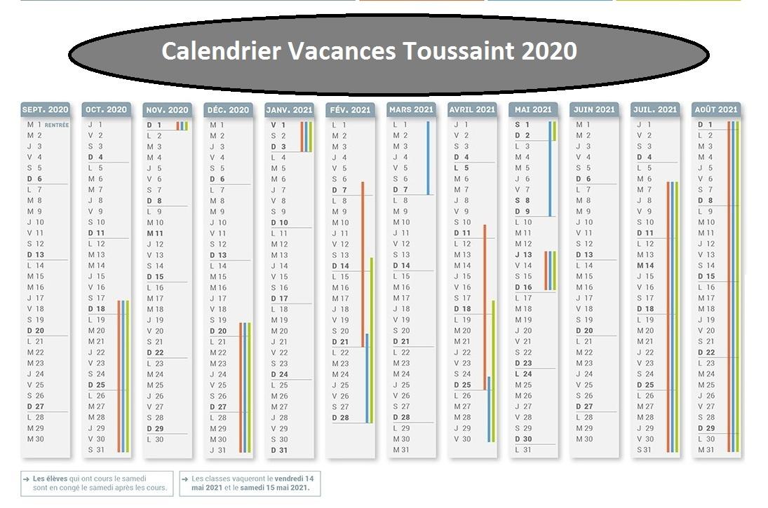 Vacances Scolaire Toussaint 2019 et 2020