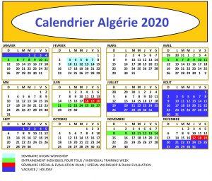 Calendrier Championnat Algérie 2020