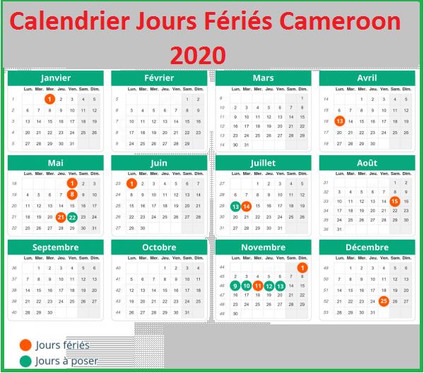 Les Jours Fériés Au Cameroun 2020