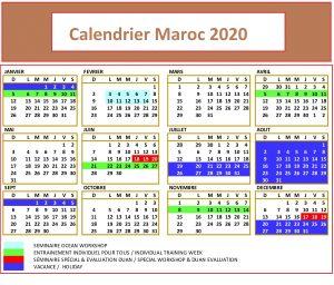Calendrier Maroc 2020 Excel