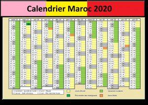 Calendrier 2020 Maroc Hijri