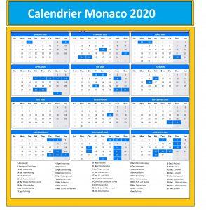 Calendrier Grand Prix Monaco 2020