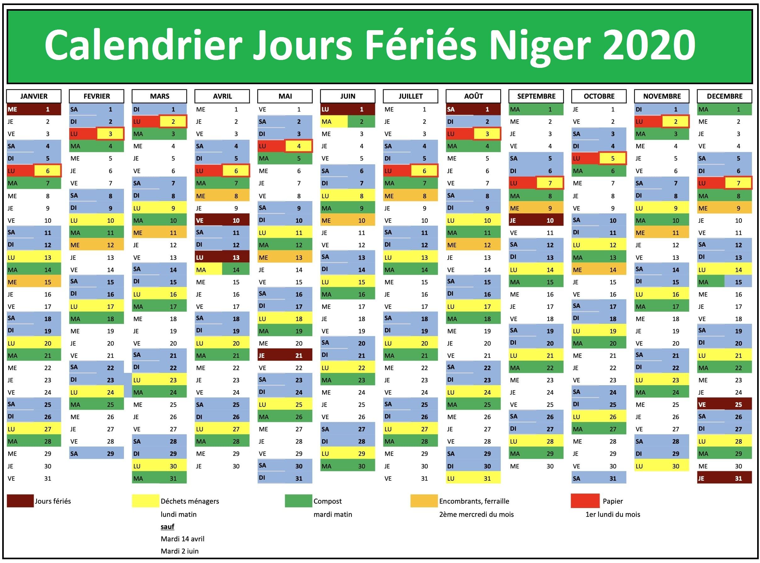Les Jours Fériés Au Niger 2020