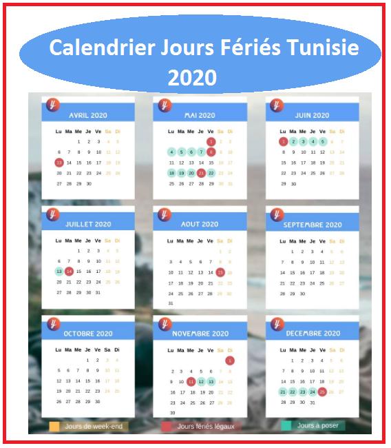 Calendrier Des Jours Fériés En Tunisie 2020
