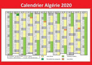 Calendrier Match Algérie 2020