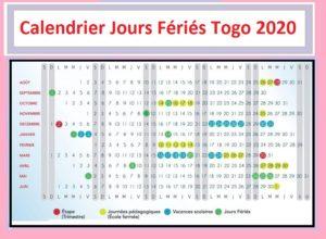 Jours Fériés Togo 2020 Pdf