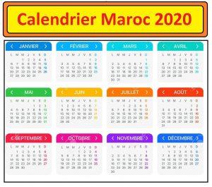 Calendrier Maroc 2020 Pdf