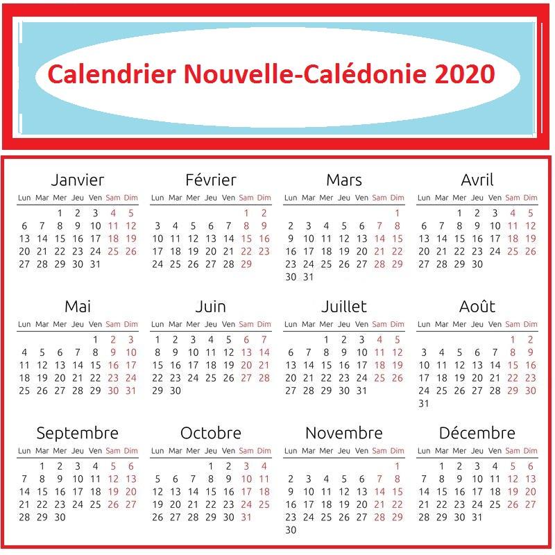 Calendrier Lunaire Nouvelle-Calédonie 2020