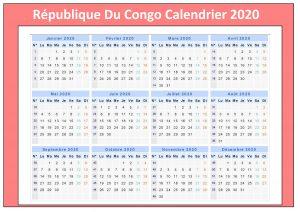 Calendrier Rdc Chan 2020
