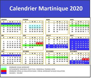 Calendrier Carnaval Martinique 2020