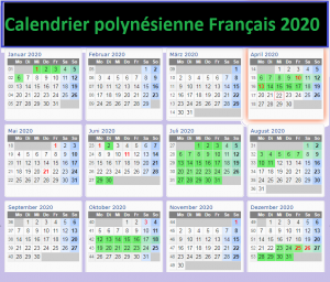 Calendrier Vacances Scolaire Polynésie Française 2020