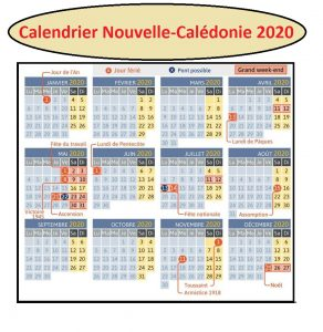 Calendrier Scolaire Nouvelle-Calédonie 2020