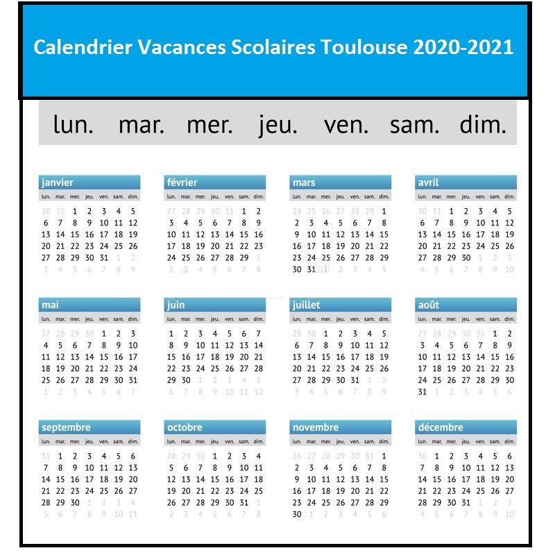 Calendrier Vacances Scolaires 2020 Academie De Toulouse