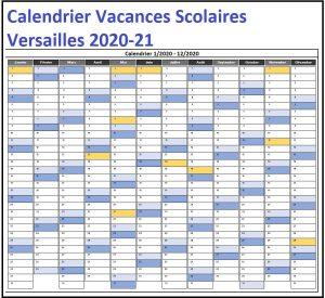 Dates Calendrier Vacances Scolaires Versailles 2020