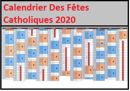 Calendrier Catholiques 2020 Pdf