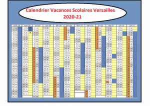 Calendrier Vacances Scolaires 2020 Zone Versailles